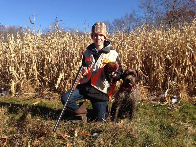 Ruger_and_Jackson_first_pheasant.JPG